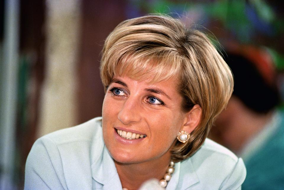 Diana, the Princess of Wales during her visit to Leicester, to formally open The Richard Attenborough Centre for Disability and Arts.