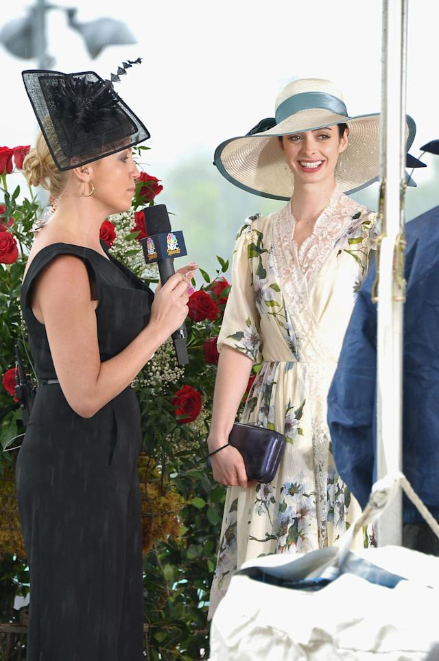 LOUISVILLE, KY - MAY 04: (L-R) Michelle Beadle and Krysten Ritter at the GREY GOOSE Red Carpet Lounge at the Kentucky Derby at Churchill Downs on May 4, 2013 in Louisville, Kentucky. (Photo by Theo Wargo/Getty Images for GREY GOOSE)