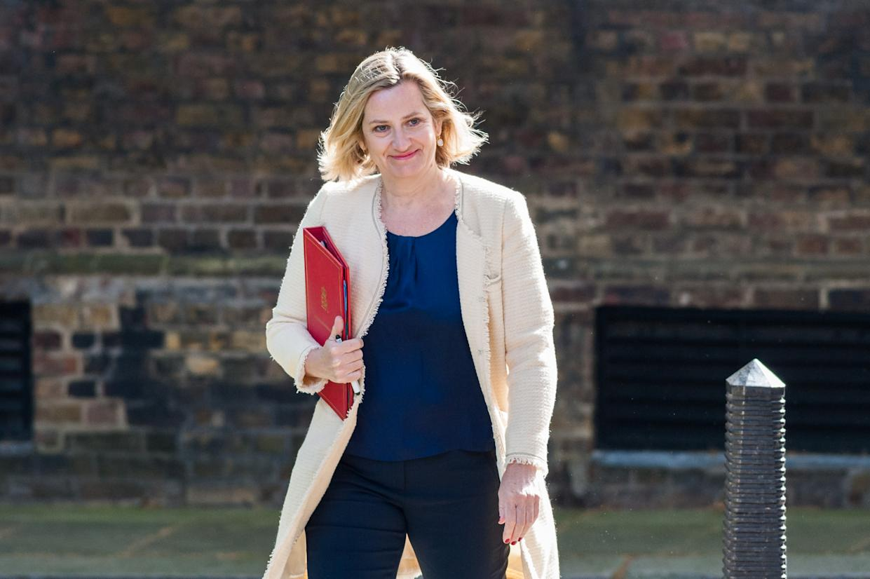 LONDON, UNITED KINGDOM - JUNE 18: Secretary of State for Work and Pensions Amber Rudd arrives for the weekly Cabinet meeting at 10 Downing Street on 18 June, 2019 in London, England. (Photo credit should read Wiktor Szymanowicz / Barcroft Media via Getty Images)