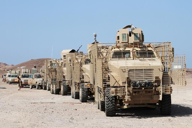 Forces loyal to the Saudi-backed Yemeni president are deployed in the coastal district of Dhubab on January 7, 2017