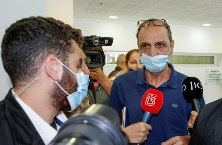 Eitan's maternal grandfather, Shmuel Peleg, who flew the boy to Israel on a private jet earlier this month, is being investigated for kidnapping by Italian prosecutors (AFP/Jack GUEZ)