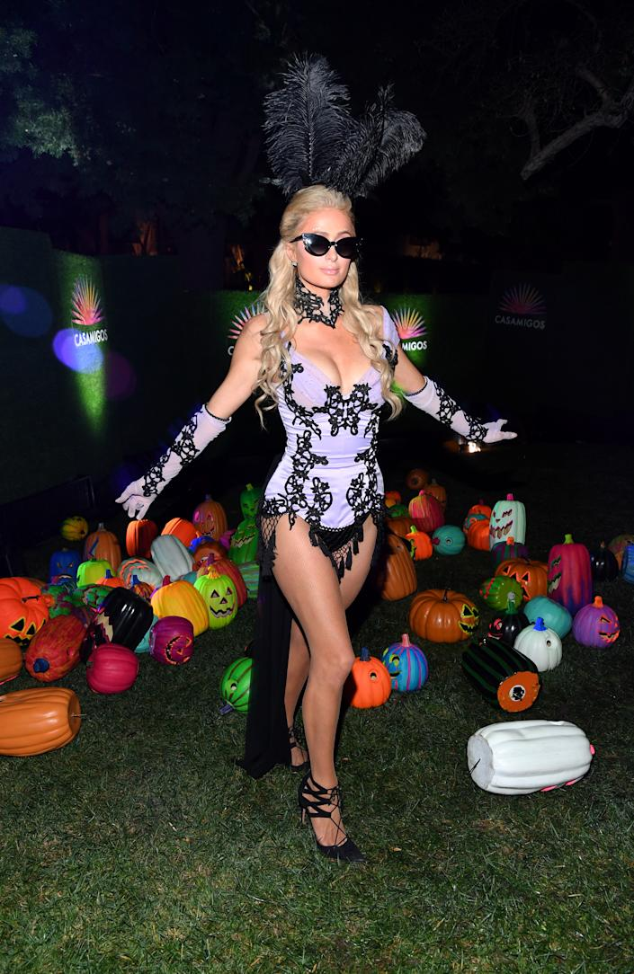 BEVERLY HILLS, CALIFORNIA - OCTOBER 25: Paris Hilton attends the 2019 Casamigos Halloween Party on October 25, 2019 at a private residence in Beverly Hills, California. (Photo by Kevin Mazur/Getty Images for Casamigos)