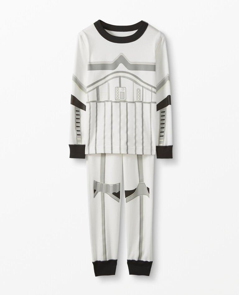 <p>Your <strong>Star Wars</strong>-obsessed kiddo will love playing the bad guy in a set of these <span>Star Wars Glow-in-the-Dark Long John Pajamas in Organic Cotton, Storm Trooper White</span> ($50).</p>