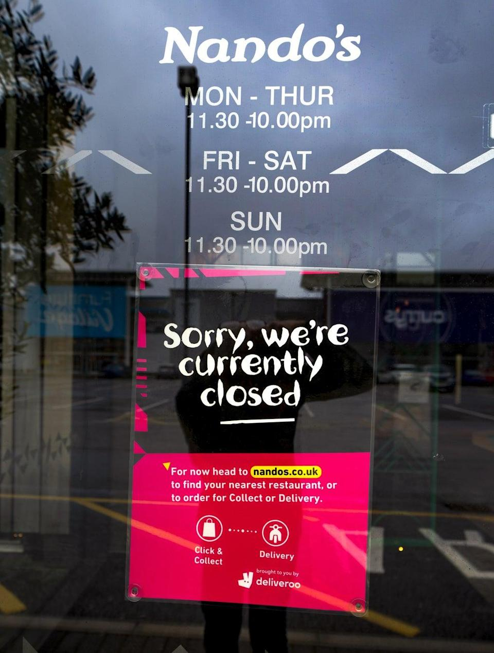 Nando's was forced to close some restaurants amid a shortage of chickens due to a lack of drivers and meat factory workers (PA) (PA Wire)