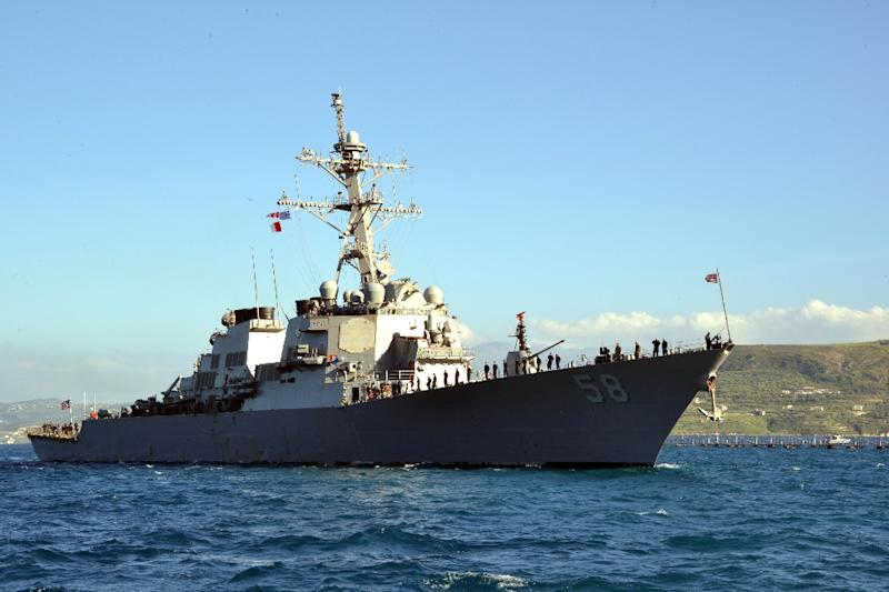 "The US 6th Fleet's guided missile destroyer USS Laboon ""will conduct routine combined training with the Georgian Coast Guard,"" the US embassy in Tbilisi said"