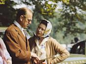 <p>The couple chat together during the Royal Windsor Horse Show at Windsor Castle.</p>