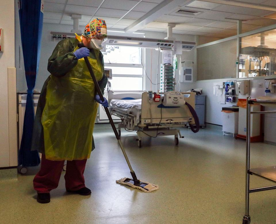 Ms McAnea said cleaners, porters and catering staff had worked 'tirelessly' alongside their NHS colleagues (PA)