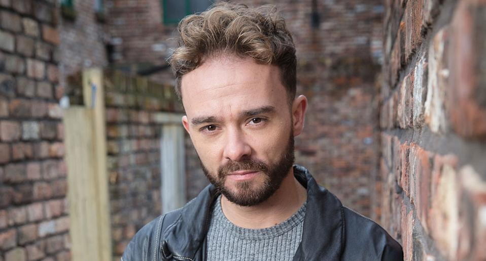 Jack P. Shepherd as David Platt in a character portrait for Coronation Street. (ITV)