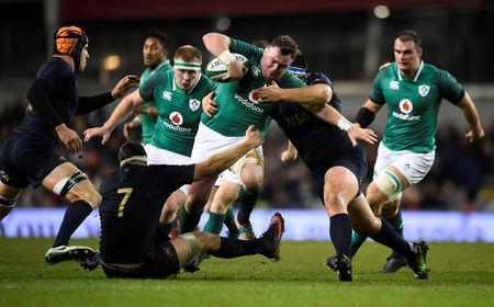 Rugby Union - Autumn Internationals - Ireland vs Argentina - Aviva Stadium, Dublin, Republic of Ireland - November 25, 2017 Ireland's Dave Kilcoyne in action REUTERS/Clodagh Kilcoyne
