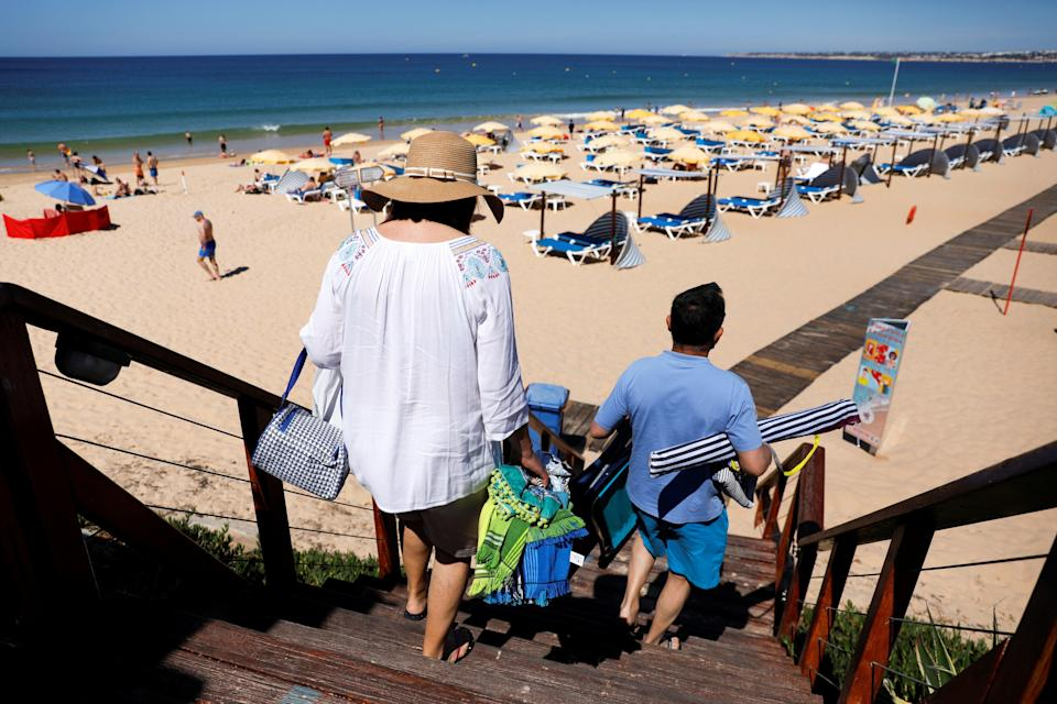 Family holidays to Portugal are back on after officials dropped its quarantine policy requirement for children (REUTERS)