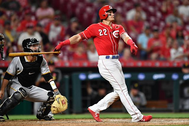 Derek Dietrich signed a minor league deal this offseason after he was DFA'd by the Miami Marlins. (Getty Images)