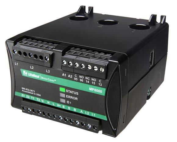 The Littelfuse MP8000 motor protection relay.