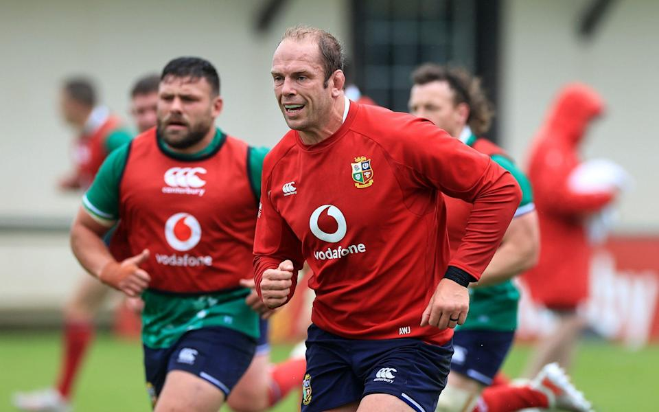 Lions captain Alun Wyn Jones and his squad have been on a training camp in Jersey - GETTY IMAGES