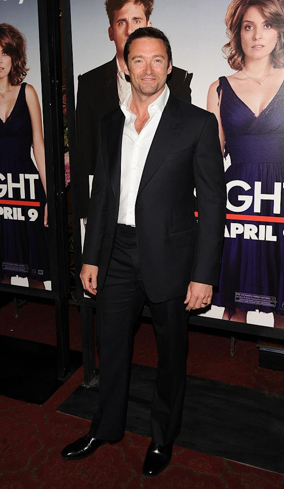 """<a href=""""http://movies.yahoo.com/movie/contributor/1800354816"""">Hugh Jackman</a> at the New York City premiere of <a href=""""http://movies.yahoo.com/movie/1810080154/info"""">Date Night</a> - 04/06/2010"""