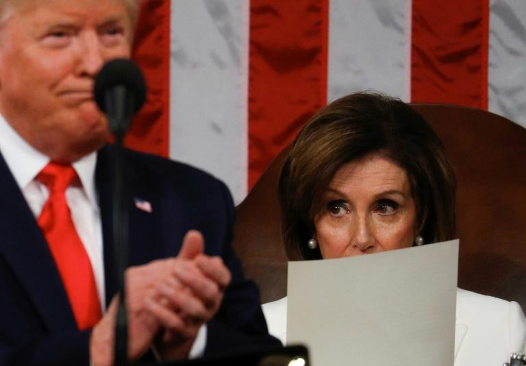 Speaker of the US House of Representatives Nancy Pelosi lambasted President Donald Trump's budget proposal for its cuts to key social programs (AFP Photo/LEAH MILLIS)