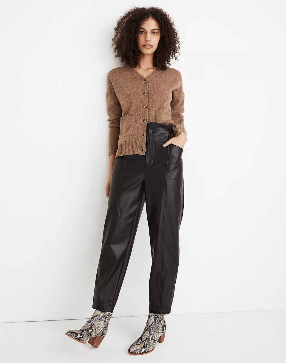 "<strong><a href=""http://www.madewell.com"" rel=""nofollow noopener"" target=""_blank"" data-ylk=""slk:Madewell"" class=""link rapid-noclick-resp"">Madewell</a></strong><br><br><strong>Dates: </strong>Now - December 27<br><strong>Sale: </strong>Take an <a href=""https://www.madewell.com/womens/sale?gridtype=four-up"" rel=""nofollow noopener"" target=""_blank"" data-ylk=""slk:additional 30% off sale"" class=""link rapid-noclick-resp"">additional 30% off sale</a><br><strong>Promo Code:</strong> GIGANTIC<br><br><br><br><strong>Madewell</strong> Vegan Leather Pull-On Paperbag Pants, $, available at <a href=""https://go.skimresources.com/?id=30283X879131&url=https%3A%2F%2Fwww.madewell.com%2Fvegan-leather-pull-on-paperbag-pants-MB292.html"" rel=""nofollow noopener"" target=""_blank"" data-ylk=""slk:Madewell"" class=""link rapid-noclick-resp"">Madewell</a>"