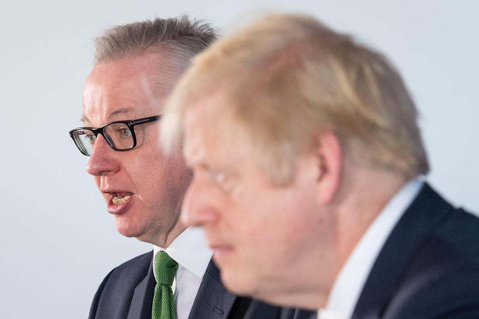 Prime Minister Boris Johnson and Chancellor of the Duchy of Lancaster, Michael Gove (PA) (PA Archive)