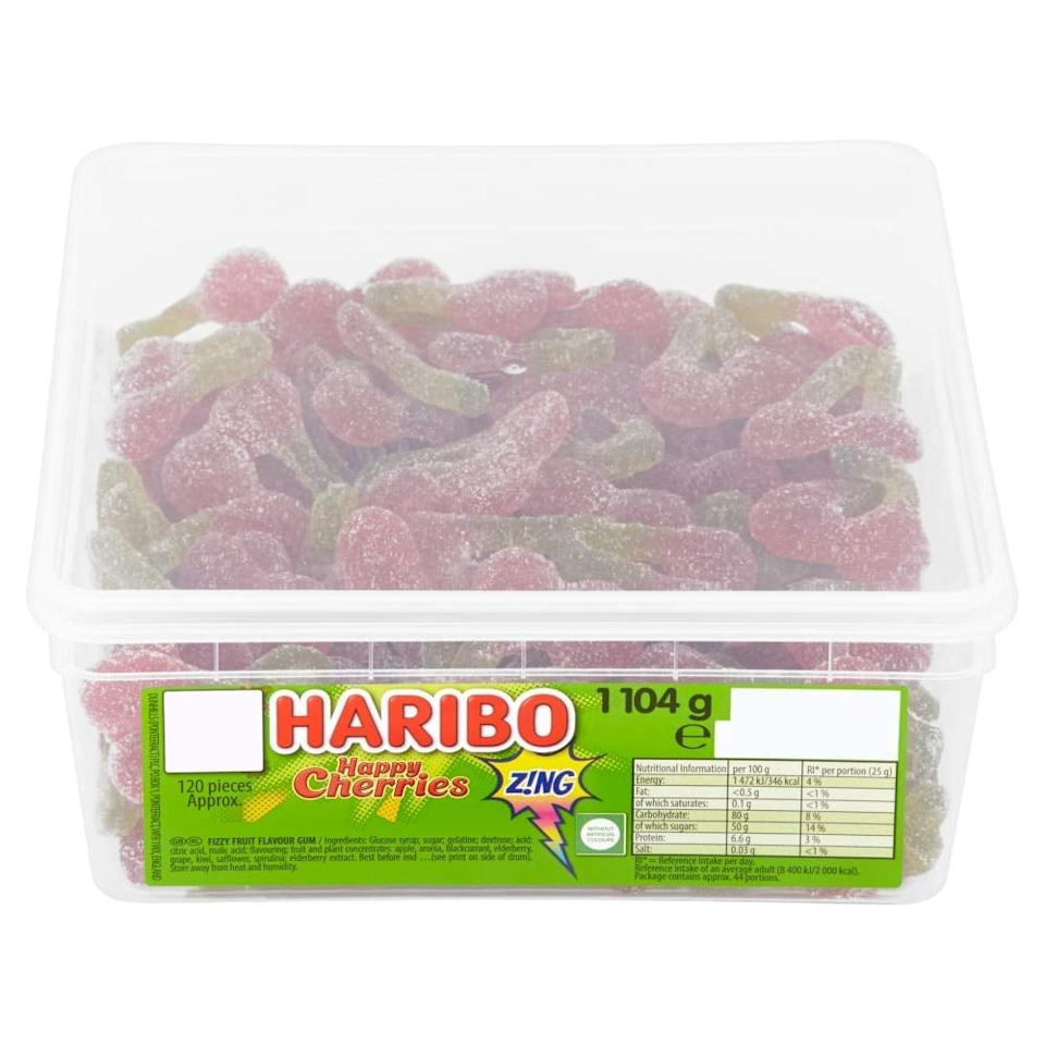 """<p>""""Okay, hear me out. I'm a major sucker for any sour candy but something about these <a href=""""https://www.popsugar.com/buy/Haribo-Sour-Cherries-585226?p_name=Haribo%20Sour%20Cherries&retailer=amazon.com&pid=585226&price=18&evar1=yum%3Aus&evar9=47577466&evar98=https%3A%2F%2Fwww.popsugar.com%2Ffood%2Fphoto-gallery%2F47577466%2Fimage%2F47577478%2FHaribo-Sour-Cherries&list1=shopping%2Camazon%2Csnacks%2Cfood%20shopping%2Cstaying%20home&prop13=mobile&pdata=1"""" rel=""""nofollow"""" data-shoppable-link=""""1"""" target=""""_blank"""" class=""""ga-track"""" data-ga-category=""""Related"""" data-ga-label=""""https://www.amazon.com/Haribo-Sour-Cherries-120-Pieces/dp/B0081QJY7K/ref=sr_1_1?dchild=1&amp;keywords=haribo+sour+cherries&amp;qid=1590626849&amp;sr=8-1"""" data-ga-action=""""In-Line Links"""">Haribo Sour Cherries</a> ($18) satisfies my sweet tooth every time. I can't ever find them in-stores, so I ordered a tub from Amazon and it's a total lifesaver during a long day."""" - Karenna Meredith, assistant editor, Trending and Viral Features</p>"""