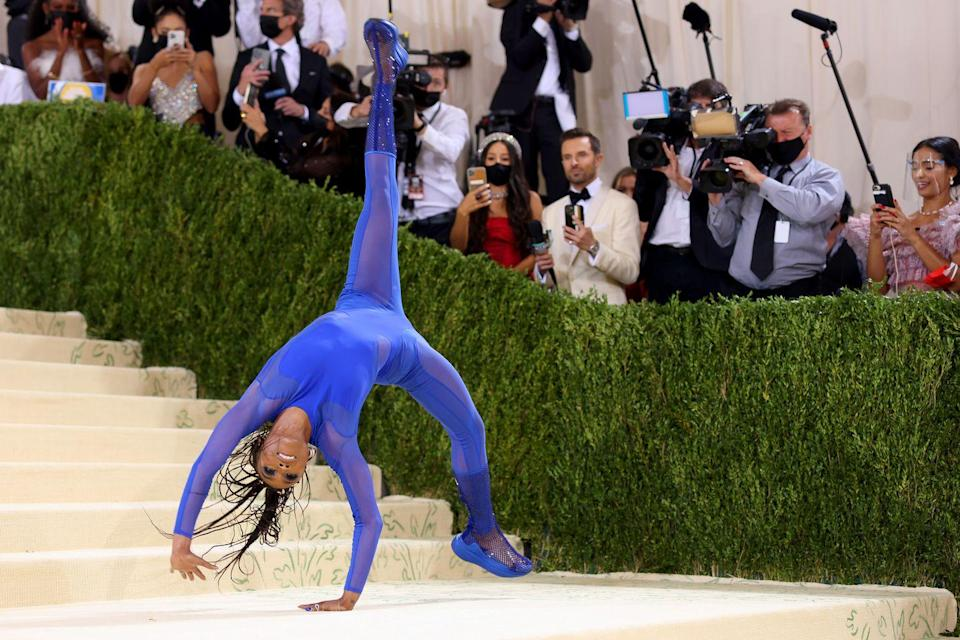 <p>Sorry, if you're an Olympic gymnast doing backflips down some stairs at the Met Gala, you are absolutely on the best guest list.</p>