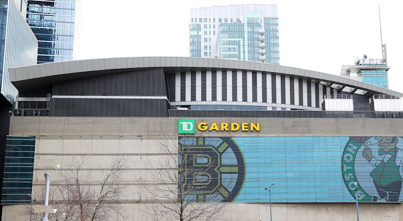 BOSTON, MASSACHUSETTS - MARCH 12: A view outside of TD Garden, the venue that hosts the Boston Bruins and Boston Celtics on March 12, 2020 in Boston, Massachusetts. It has been announced that NBA and NHL seasons have been suspended due to COVID-19 with hopes of returning later in the spring. The NBA, NHL, NCAA and MLB have all announced cancellations or postponements of events because of the virus. (Photo by Maddie Meyer/Getty Images)