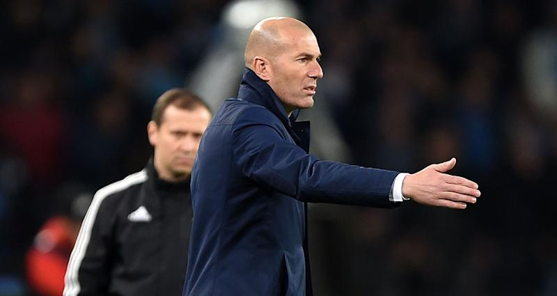 Zinedine Zidane Napoli Real Madrid Champions League