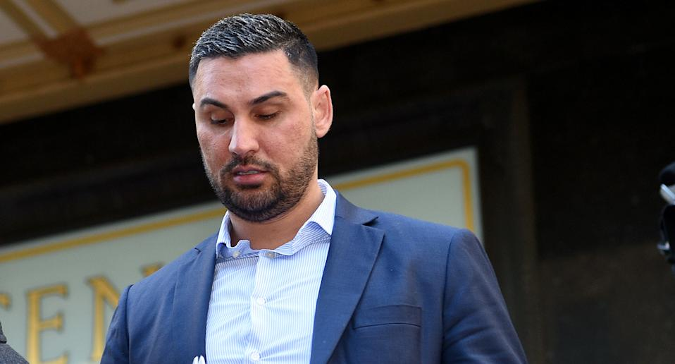 Salim Mehajer is seen leaving Downing Centre District Court in Sydney, June 30, 2020