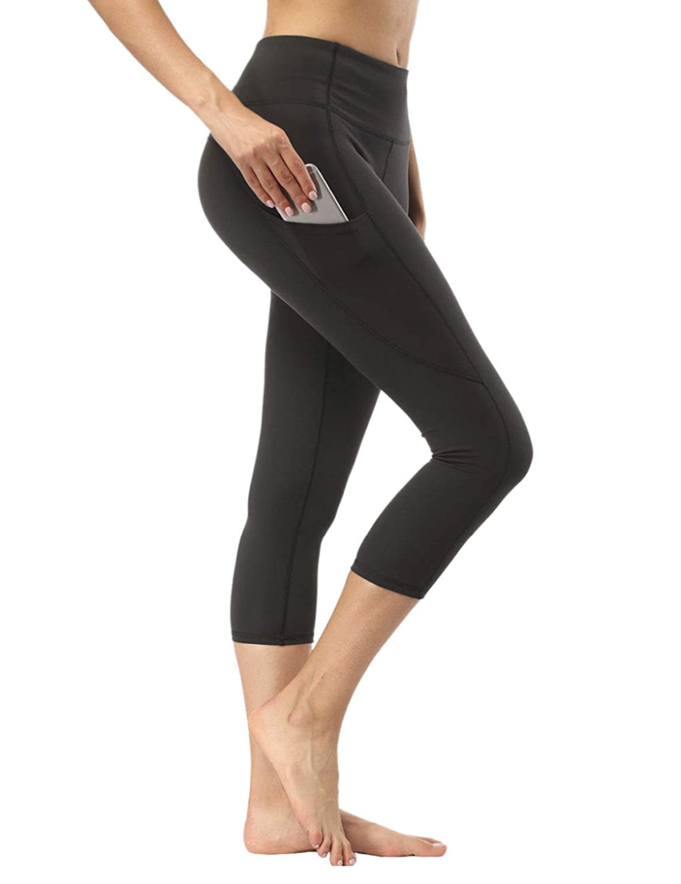 Adorence 3/4 Capris High Waist Yoga Pants for Women with Side Pockets - Amazon Canada, from $27.