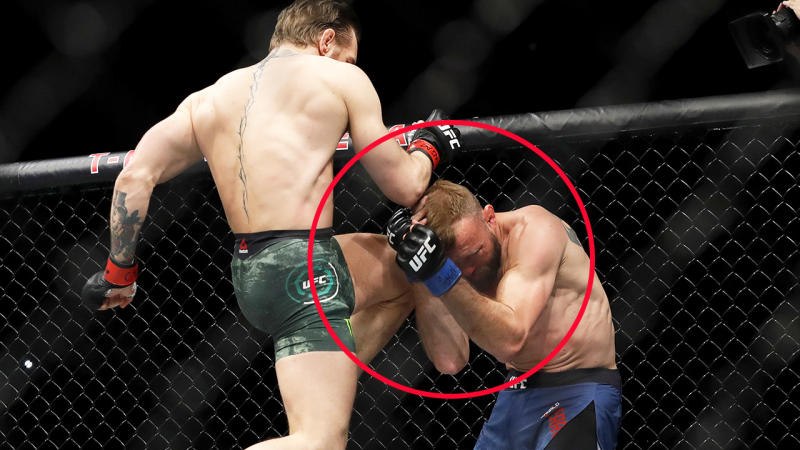 Conor McGregor, pictured here landing a brutal knee to the face of Donald Cerrone at UFC 246.