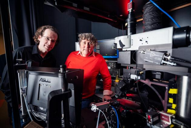 Allen Institute neuroscientists Michael Buice and Saskia de Vries are two of the lead authors of a newly published study delving into the mechanics of mouse vision processing. (Allen Institute Photo)