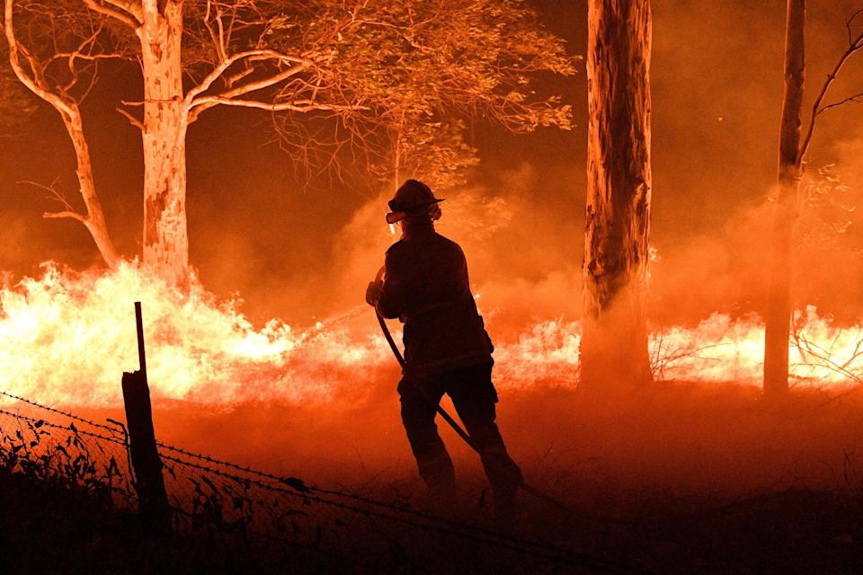 Firefighters battled the raging flames for seven months (AFP via Getty Images)