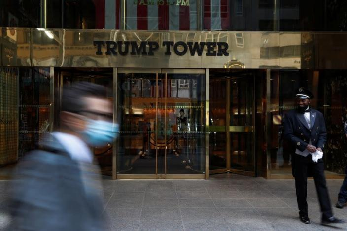 The entrance to Trump Tower on 5th Avenue is pictured in the Manhattan borough of New York City