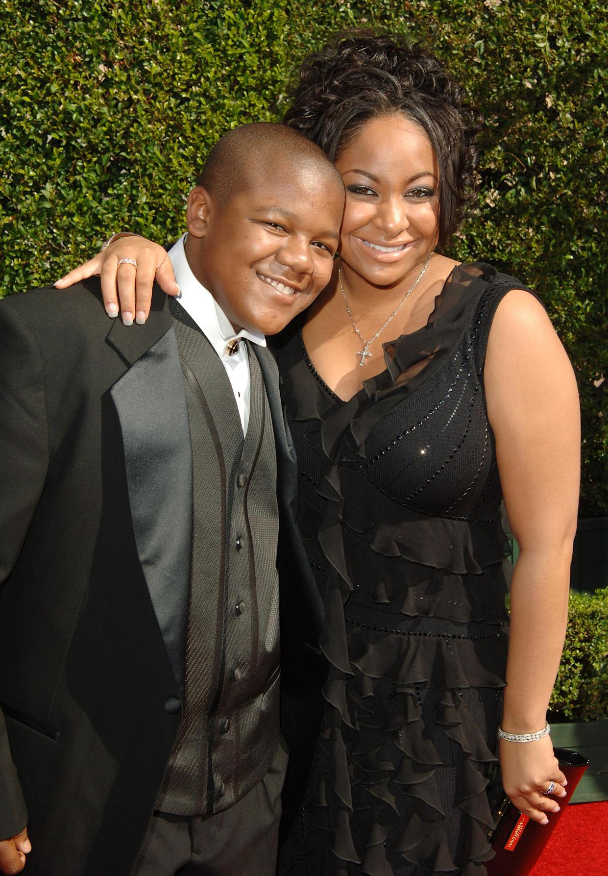 Kyle Massey and Raven during 57th Annual Primetime Creative Arts EMMY Awards - Arrivals & Red Carpet at Shrine Auditorium in Los Angeles, California, United States. (Photo by Jon Kopaloff/FilmMagic)