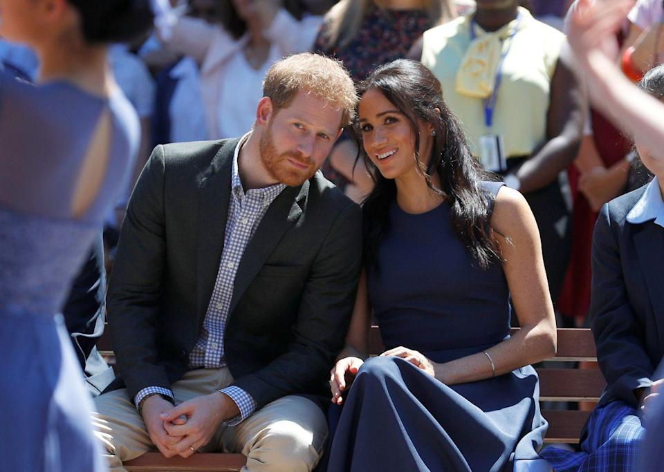 <p>The Duke and Duchess spoke among themselves as they watched a performance during a visit to Macarthur Girls High School in Sydney. </p>