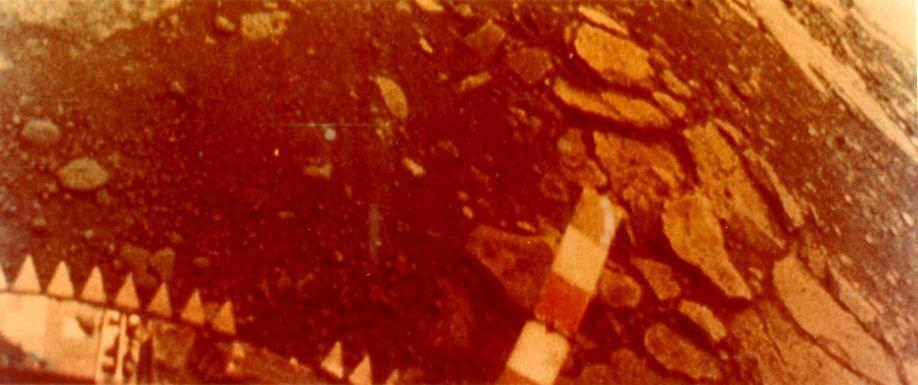 """<p>The <a href=""""https://www.popularmechanics.com/space/solar-system/a30299716/facts-about-venus/"""" rel=""""nofollow noopener"""" target=""""_blank"""" data-ylk=""""slk:Soviet Venera missions"""" class=""""link rapid-noclick-resp"""">Soviet Venera missions</a> highlighted the perils of Venus. Venera 7, the first mission to successfully land on another planet, illuminated the <a href=""""https://www.popularmechanics.com/space/solar-system/a30299716/facts-about-venus/"""" rel=""""nofollow noopener"""" target=""""_blank"""" data-ylk=""""slk:harsh and unforgiving world next door to us"""" class=""""link rapid-noclick-resp"""">harsh and unforgiving world next door to us</a>. The spacecraft didn't last long on the surface—try less than an hour —but it returned reams of data for scientists to chew on. Decades later, the 13th Venera mission snapped the first ever images (seen above) of the Venusian surface.</p>"""