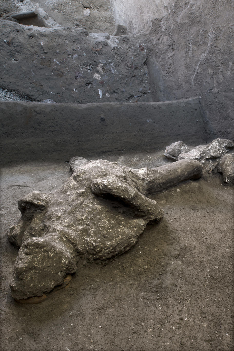 Bodies of man and his slave unearthed from ashes at Pompeii