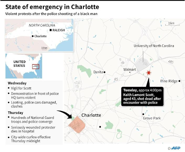 State of emergency in Charlotte (AFP Photo/)