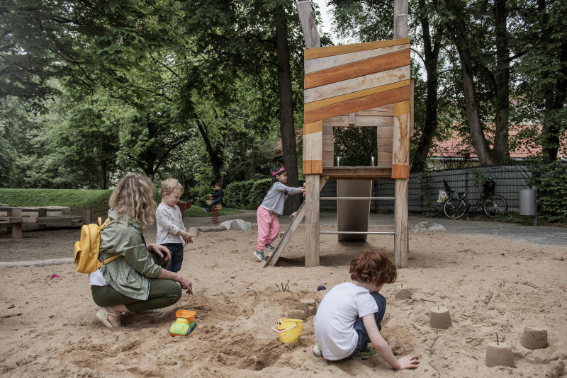 A playground in Munich, May 11, 2020. (Laetitia Vancon/The New York Times)
