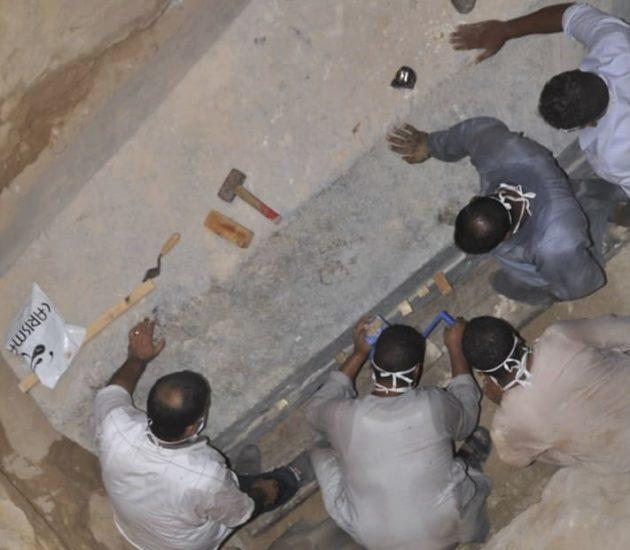 Opening of ancient sarcophagus in Alexandria