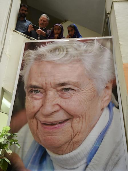 Pfau, who died at the age of 87 on August 10 was known locally as Pakistan's Mother Teresa (AFP Photo/RIZWAN TABASSUM)