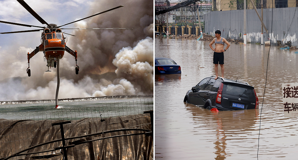 In the last two months, Greece has been hit with severe wildfires and parts of Henan province in China have flooded. Source: Reuters