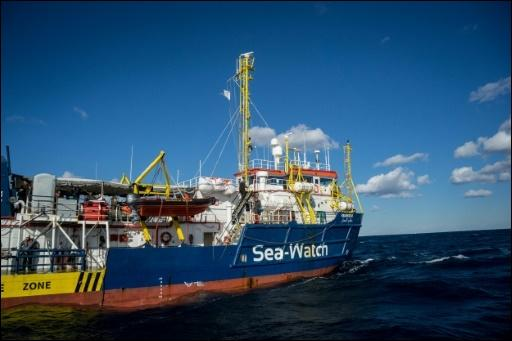 "Die ""Sea Watch 3"" am 4. Januar vor Malta"