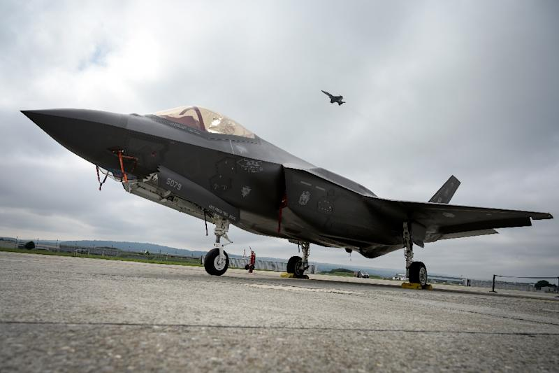 Turkish companies have made 935 different parts for the F-35, a fighter-jet of the type seen here (AFP Photo/Fabrice COFFRINI)