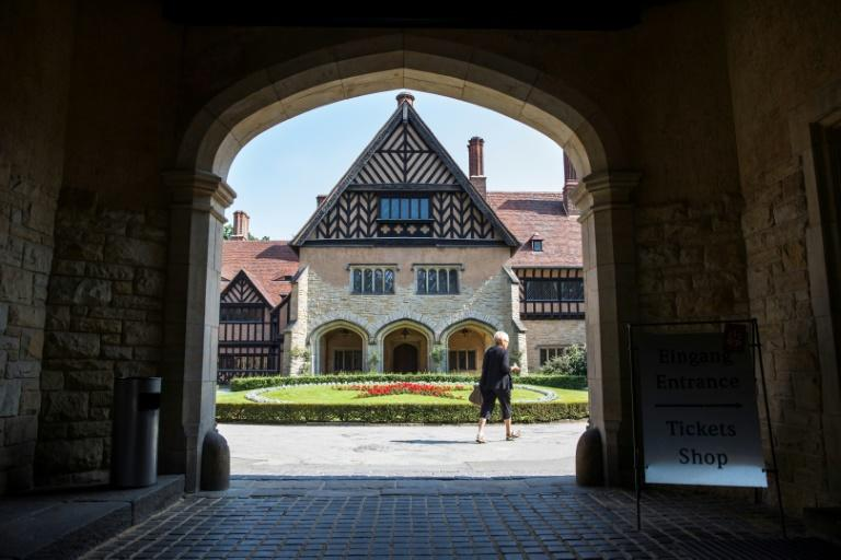 Cecilienhof Palace near Berlin is at the centre of negotiations between Hohenzollern family representatives and cultural foundations over the family's compensation and restitution demands (AFP Photo/Odd ANDERSEN)
