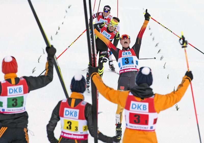Germany wins Nordic combined World Cup team relay