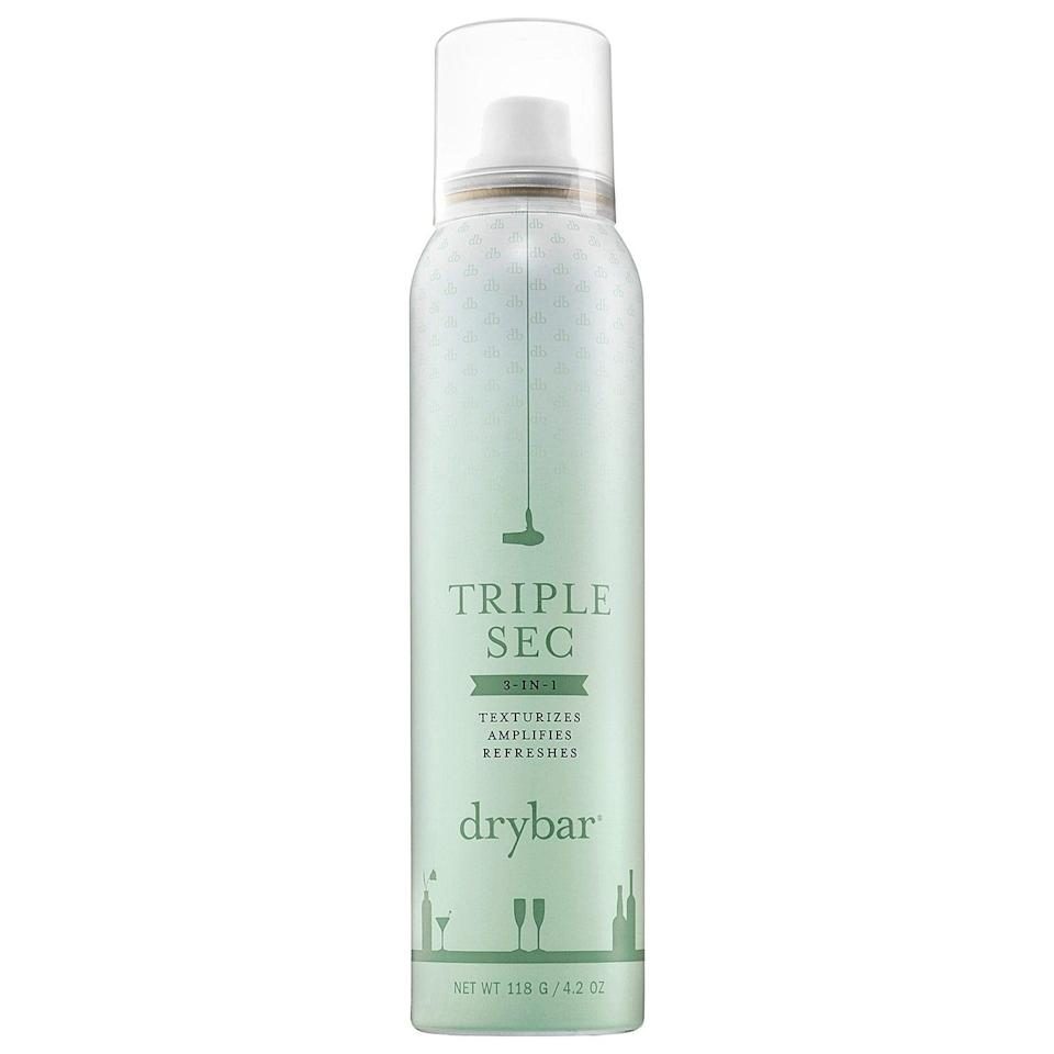 "<p>""I swear by <span>Dry Bar's Triple Sec</span> ($26). It's technically an 'amplifying' spray, but it works just the way I'd want a dry shampoo to work - adding volume and texture, helping to combat greasy hair, with zero white powder residue. It's kind of changed my hair and my life. I use it to add texture before blow-drying my hair, as a hairspray to help hold waves, and when I'm going between washes. Bonus: it smells amazing."" - Hannah Weil McKinley, content director, Fashion</p>"