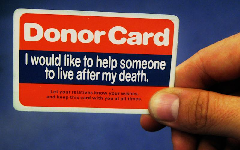 England currently has an opt-in system for organ donation - PA
