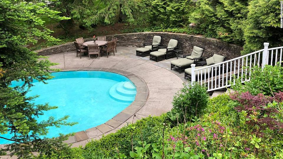 """<p>The pool at the Stillman's new house in Connecticut.</p><div class=""""cnn--image__credit""""><em><small>Credit: Courtesy Challie Stillman / Handout</small></em></div>"""