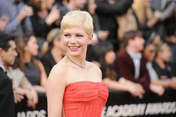 Actress Michelle Williams arrives at the 84th Annual Academy Awards