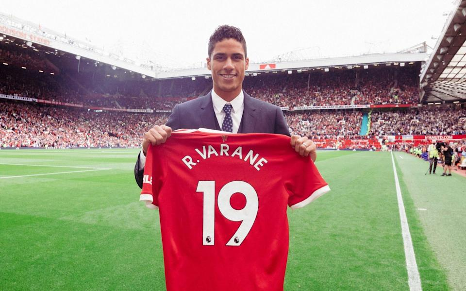 Man Utd announce signing of World Cup winner Raphael Varane in Old Trafford unveiling - GETTY IMAGES