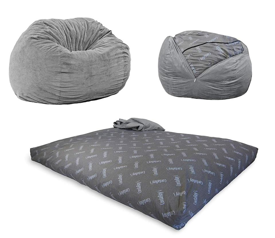 <p>This <span>CordaRoy's Chenille Bean Bag Chair</span> ($225, originally $260) may just look like a perfect extra seat for your house, but believe it or not, it also turns into a full-size bed for guests.</p>
